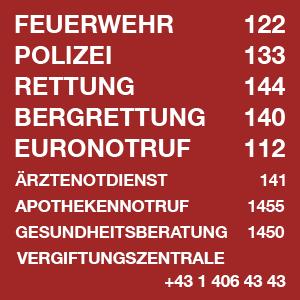 Notrufnummern