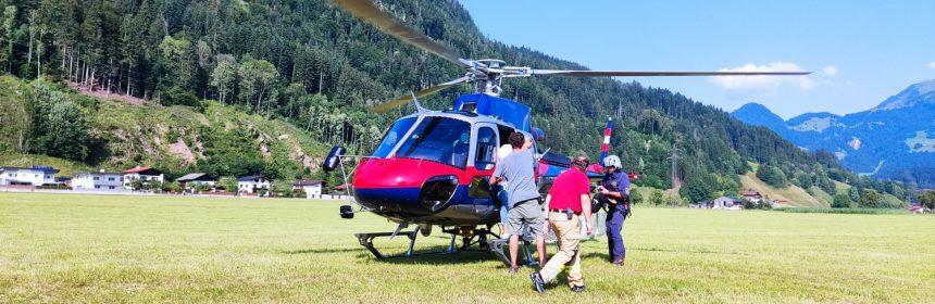 2021-07-23 THL: Absicherung/Einweisung Hubschrauberlandung