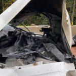 29.09.2021 - BRAND: Fahrzeugbrand nach Verkehrsunfall